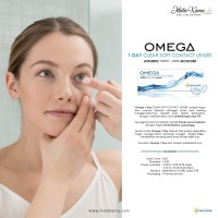 OMEGA 1 DAY CLEAR SOFT CONTACT LENSES - Softlens Bening Harian