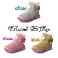 Fashion Shoes Kids Boots LED Perempuan, Glitter lampu, Pesta karenina