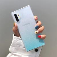 Casing VIVO Y19 Transparent Gradient Glitter Soft Case