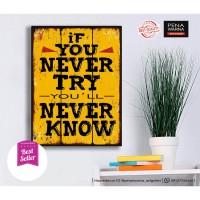 quotes 10 | hiasan | pajangan dinding | poster | kayu | wall decor