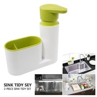 Sink tidy set dispenser sabun odol tempat sikat gigi kamar mandi