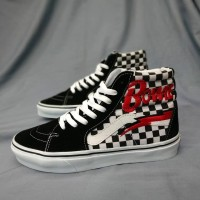 Sepatu Vans SK8 High Checkerboard X David Bowie