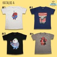 Baju Kaos Anak Cowok Laki - Laki Lengan Pendek Premium - Katalog A