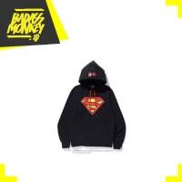 BAPE x DC Superman Pullover Hoodie Black