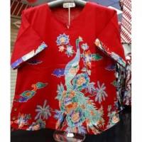 Blouse Batik Wanita Cheongsam 5 L Jumbo Kualitas Bagus Atasan Imlek