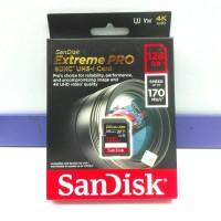 SD Card SDXC Extreme SanDisk 128GB 170MBPs v30 4K UHD ORIGINAL