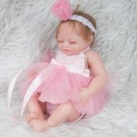 Lifelike Realistic Baby Doll Girl Gift Soft Silicone Bath Role Play