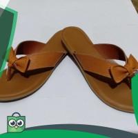 Sandal wanita kulit asli model pita