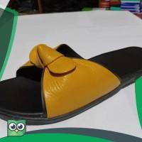 Sandal pita wanita kulit asli