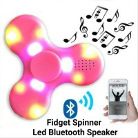 FIDGET SPINNER LED PLUS BLUETOOTH & SPEAKER SPIN OFF WITH LED AND