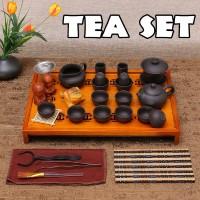 Chinese Kung Fu Tea Set Drinkware Tea Ceremony Purple Clay Teapot