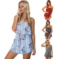 Summer Sexy Playsuit Floral Women Jumpsuit Mini Fashion Beach