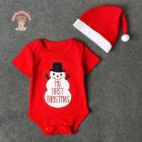 perfectforyou✡ 2pcs Summer Xmas Clothes Set Baby Kids Snowman