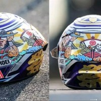 water decal helm shoei motegi 2018