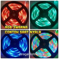 lampu led strip RGB 5mtr.waterproof.PROMO MURAH