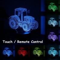Lampu Malam LED Proyektor Gambar Traktor 3D Tenaga Baterai Koneksi