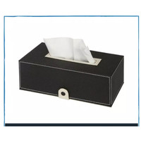 DS - Tempat Kotak Tisu/ Tissue Box Classic Handicraft - Hitam