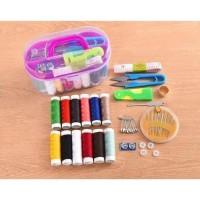 Sewing Kit Box / Alat Set Jahit Isi 12 Benang / Alat Jahit