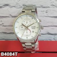 jam tangan ALBA PRIA CHRONOGRPH RANTAI SILVER BLACK BLUE