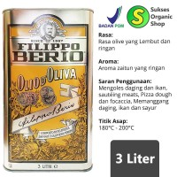 Filippo Berio Pure Olive Oil 3 Liter/Minyak Zaitun Murni Filipo Berio
