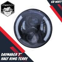 Daymaker 7 inch Half Ring Angel Eyes Lampu LED Import W175 CB Harley