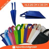 (25x35x10) HLS Goodie bag Tas kain spunbond / handle lipat samping