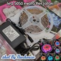 led strip lampu hias led RGB running 5050 nyala berjalan