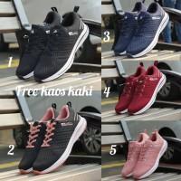 Adidas Zoom size 36 - 40 sepatu wanita olahraga running sekolah tosca