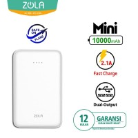 Zola International Mini Powerbank 10000 mAh - White