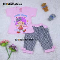 Setelan Lisa uk 1-6 Tahun / Baju Anak Perempuan Kaos Lengan Pendek