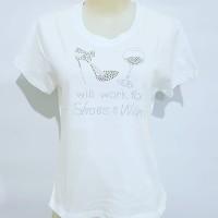 Gelmello Oblong wanita T-Shirt kaos atasan cewek Tumbler tee motek 144