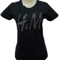 Gelmello Oblong wanita T-Shirt kaos atasan cewek Tumbler tee motek 099