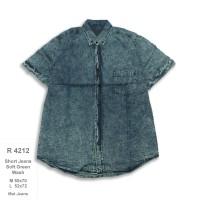 R4212 kemeja jeans pria harga grosir