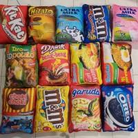 Bantal snack / bantal lucu / 30x40 cm