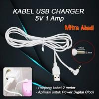 Kabel USB Charger Jack DC Adaptor Cowok/Male DC 5V 1A