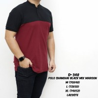 Kaos Polo Pria Polos Hitam Maroon / Polo Shirt