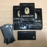BAPE WALLET LEATHER EMBOSSED CAMO SILVER LOGO MURAH