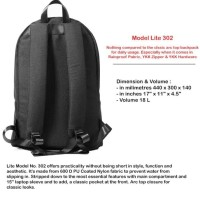TAS DAILY BACKPACK BY NAMA LITE NO.301 BLACK - WARRANTY LIFETIME MURAH