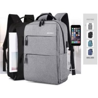 TAS RANSEL/ TAS BACKPACK/TAS USB /TAS IMPORT IT - HITAM MURAH