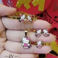 titanium set perhiasan anak 2102