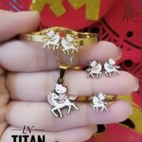 titanium set perhiasan anak 2105