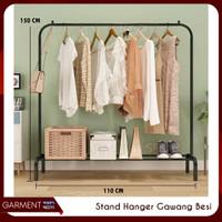 Stand Hanger Gawang Besi Kuat Putih Hitam Butik Bazar Display Gawangan