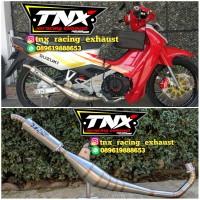 Knalpot Racing Satria 2 Tak Kolong Samping Stainles TNX Racing Exhaust