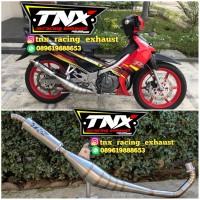 Knalpot Satria 2 Tak Hiu & Lumba Kolong Samping Stainless TNX Racing