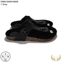 Sandal Pria & Wanita Casual Jepit / Y Strap Classic Black Stexel