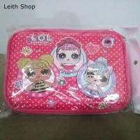 Tempat pensil LOL besar pink L O L surprise doll dolls pouch ball