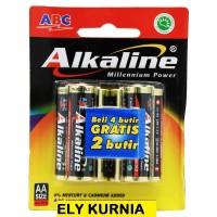 Baterai ABC ALKALINE AAA 4+2 / Alkaline A3