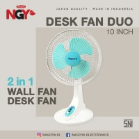 Kipas Angin Meja NAGOYA Duo (Desk / Wall Fan) 10in - NG10DWF