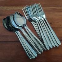 [6 Pcs] Sendok Makan Stainless Motif Batik Komodo