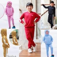 Baju Setelan Training Olahraga Sweater Tidur Anak Laki Perempuan 3-10y